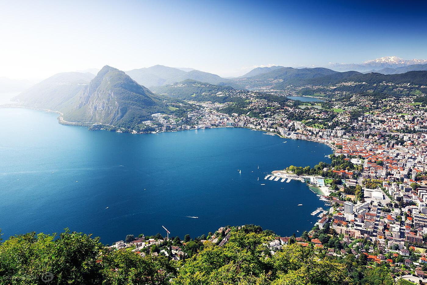 Lugano und die Tessiner Alpen