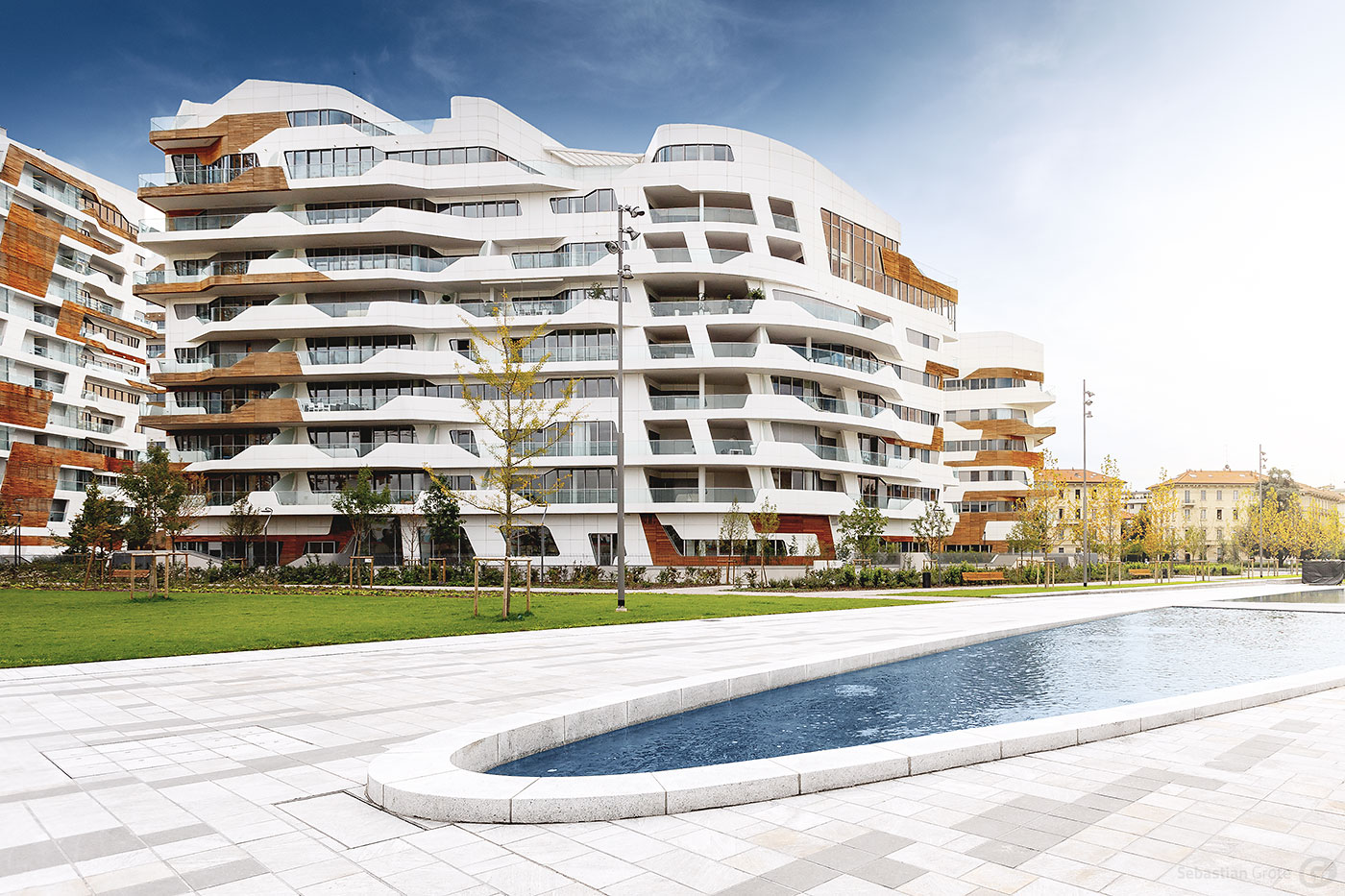 Mailand 13 CityLife von Zaha Hadid, Arata Isozaki und Daniel Libeskind