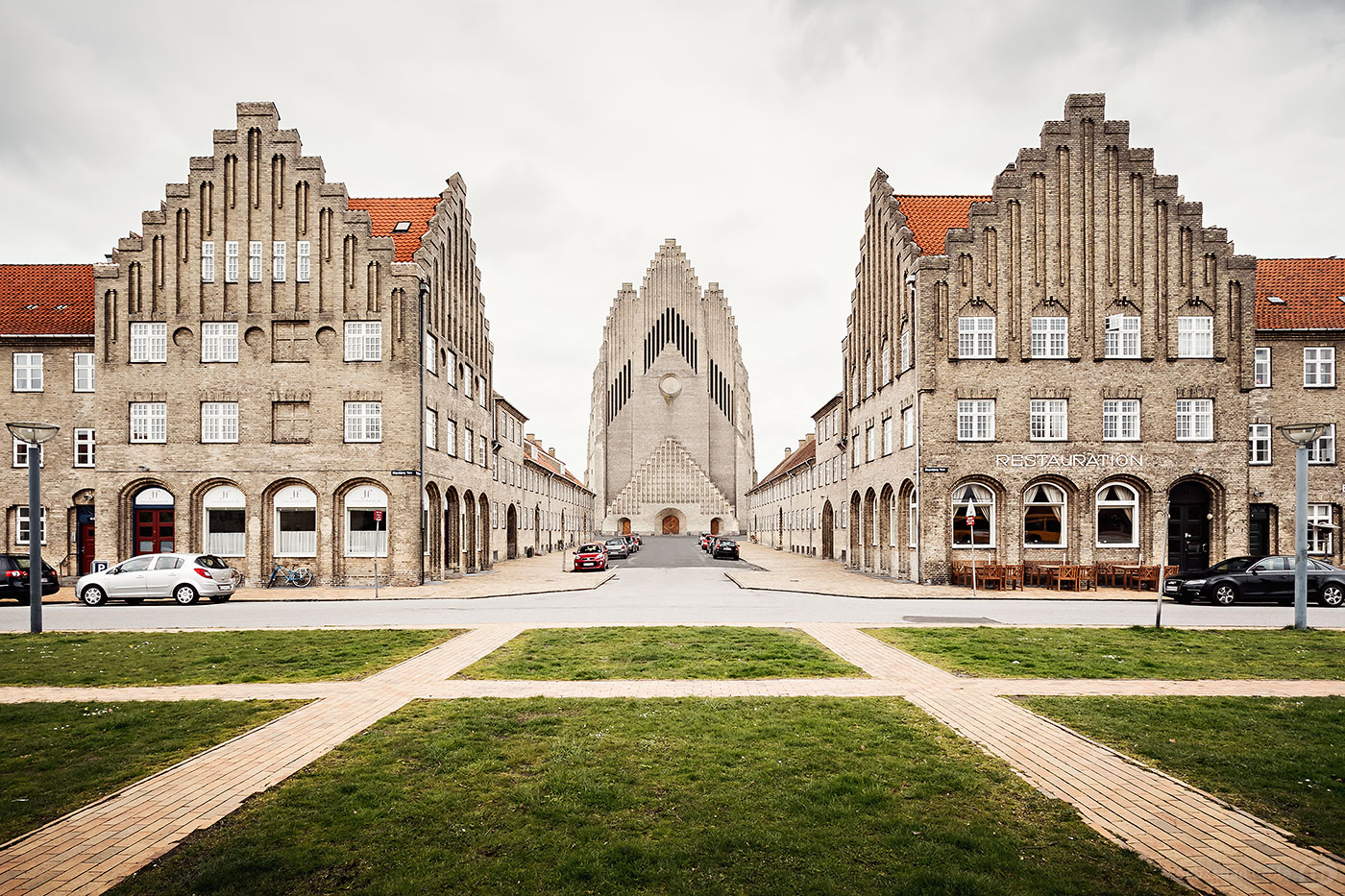 Grundtvigskirche im Kopenhagener Stadtteil Bispebjerg, ein Beispiel expressionistischer Architektur mit neugotischen Elementen