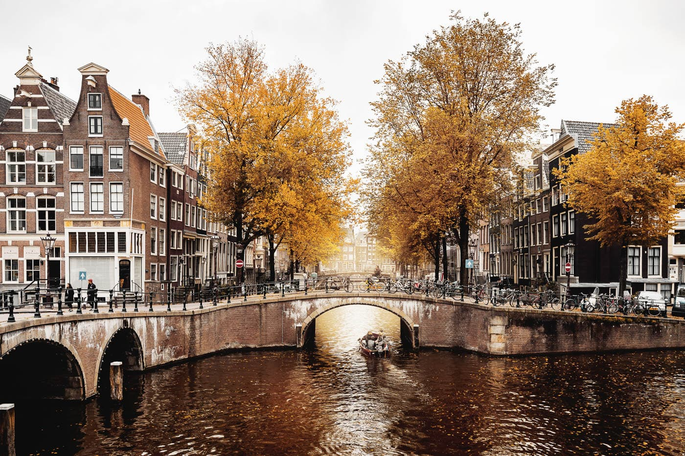 Autumn in the Keizersgracht in Amsterdam, Netherlands