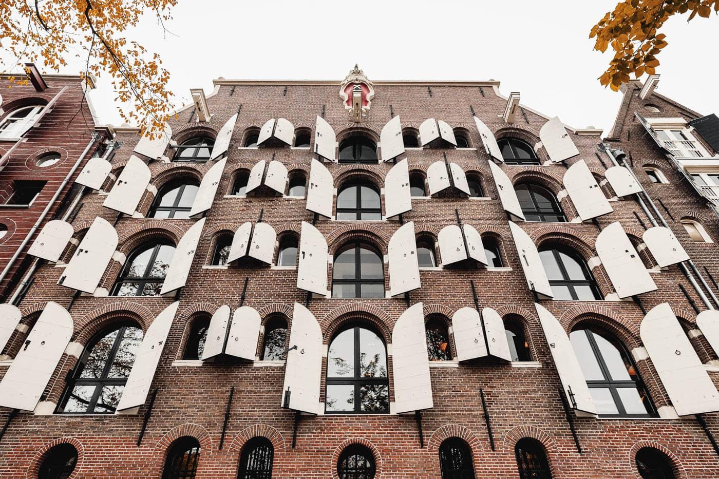 Häuserfassade in Amsterdam, Niederlande