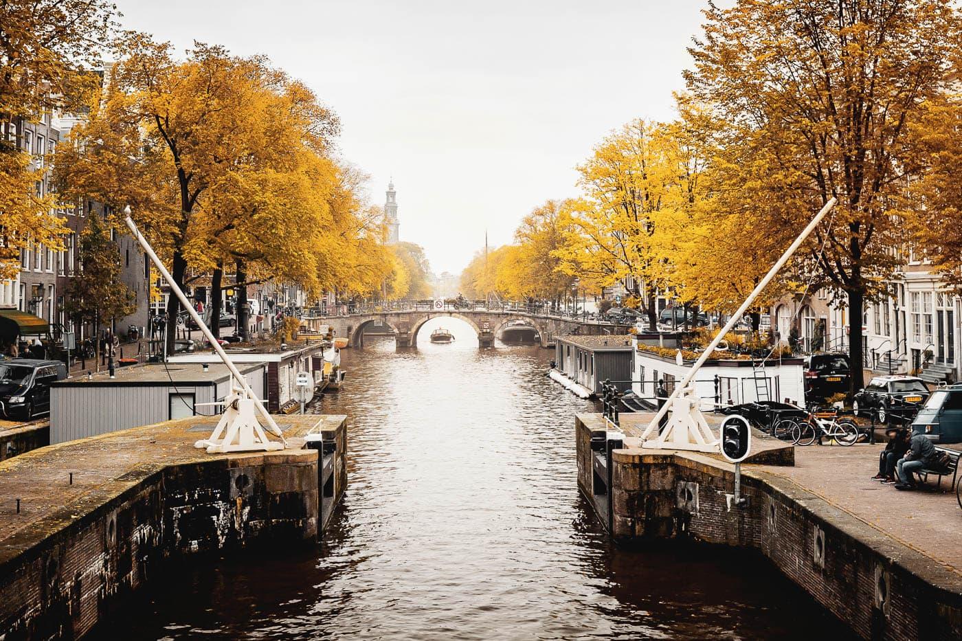 Nördliche Prinsengracht in Amsterdam, Niederlande