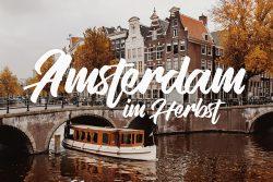 Herbst in der Keizersgracht in Amsterdam, Niederlande