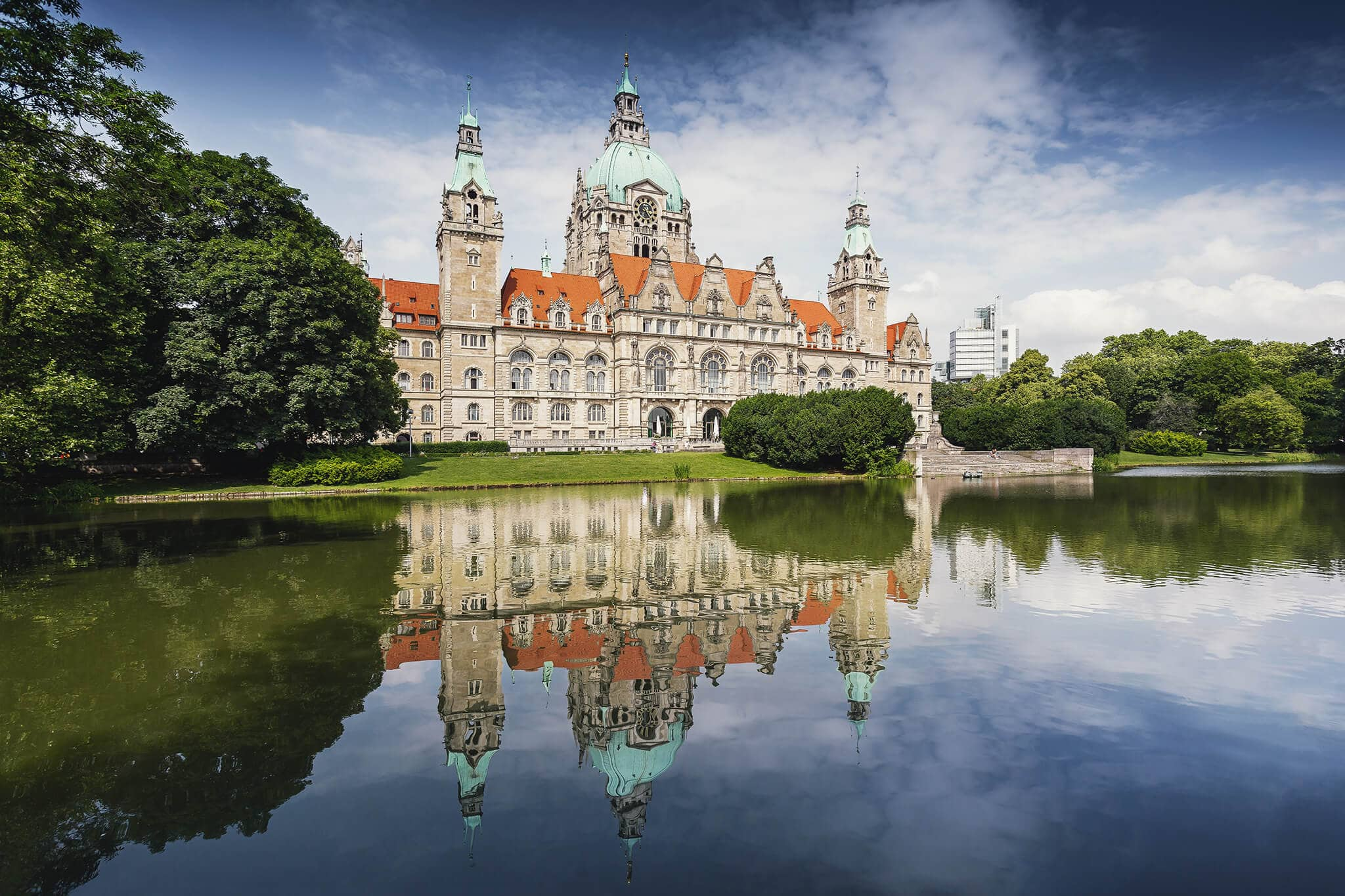 Neues Rathaus Hannover - Grüne Stadt Hannover