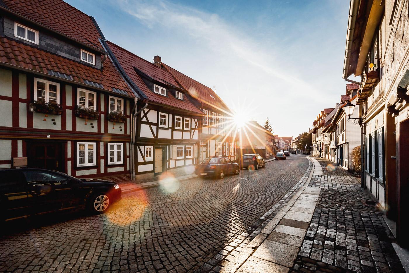 Fachwerkhäuser in Wernigerode im Harz