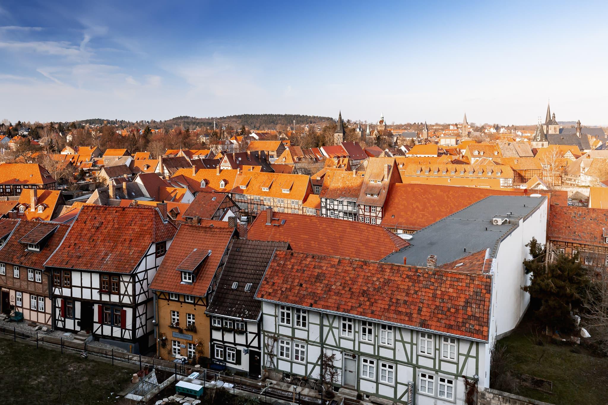 Quedlinburg im Harz, Sachsen-Anhalt, Deutschland