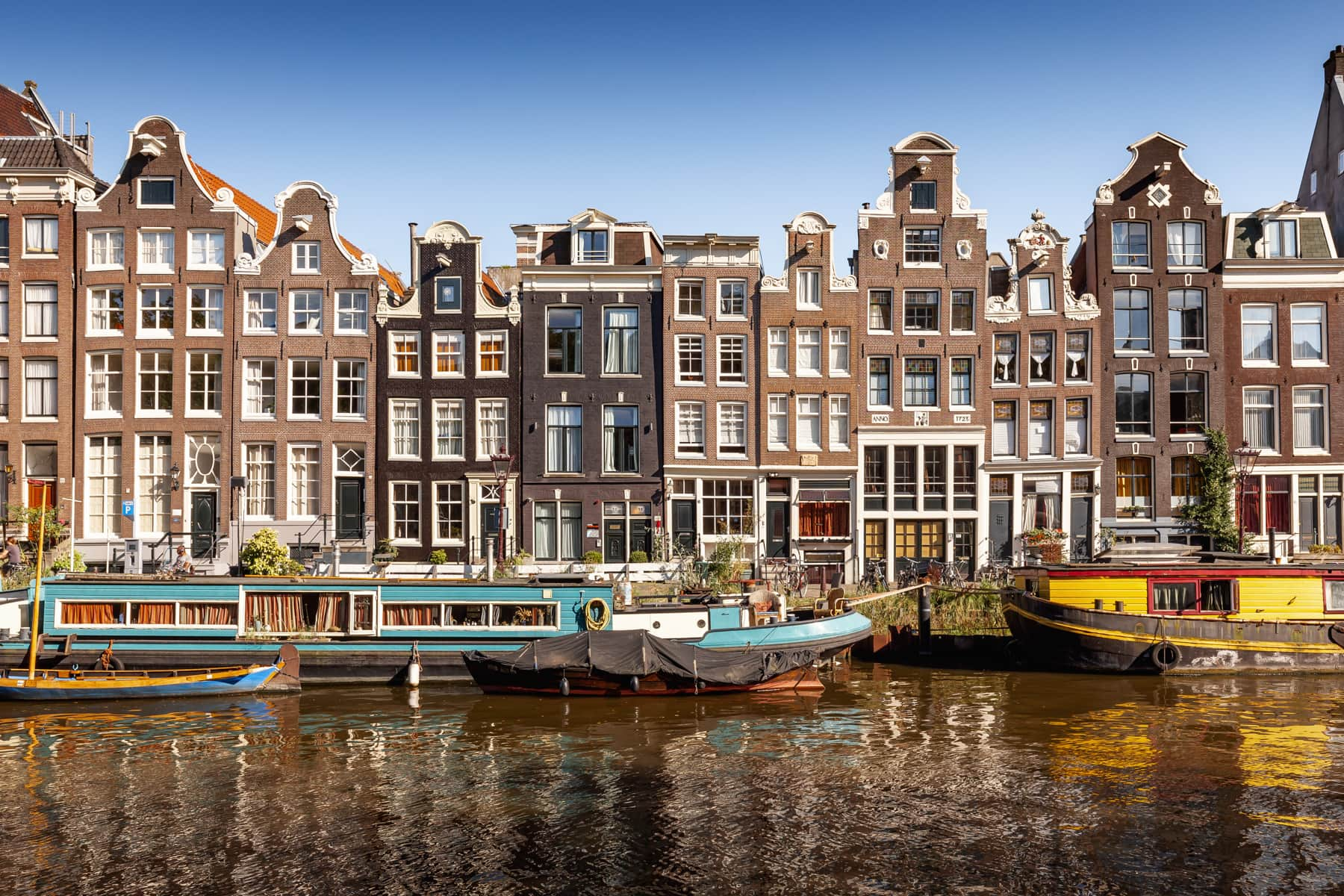 Singel Gracht in Amsterdam, Niederlande