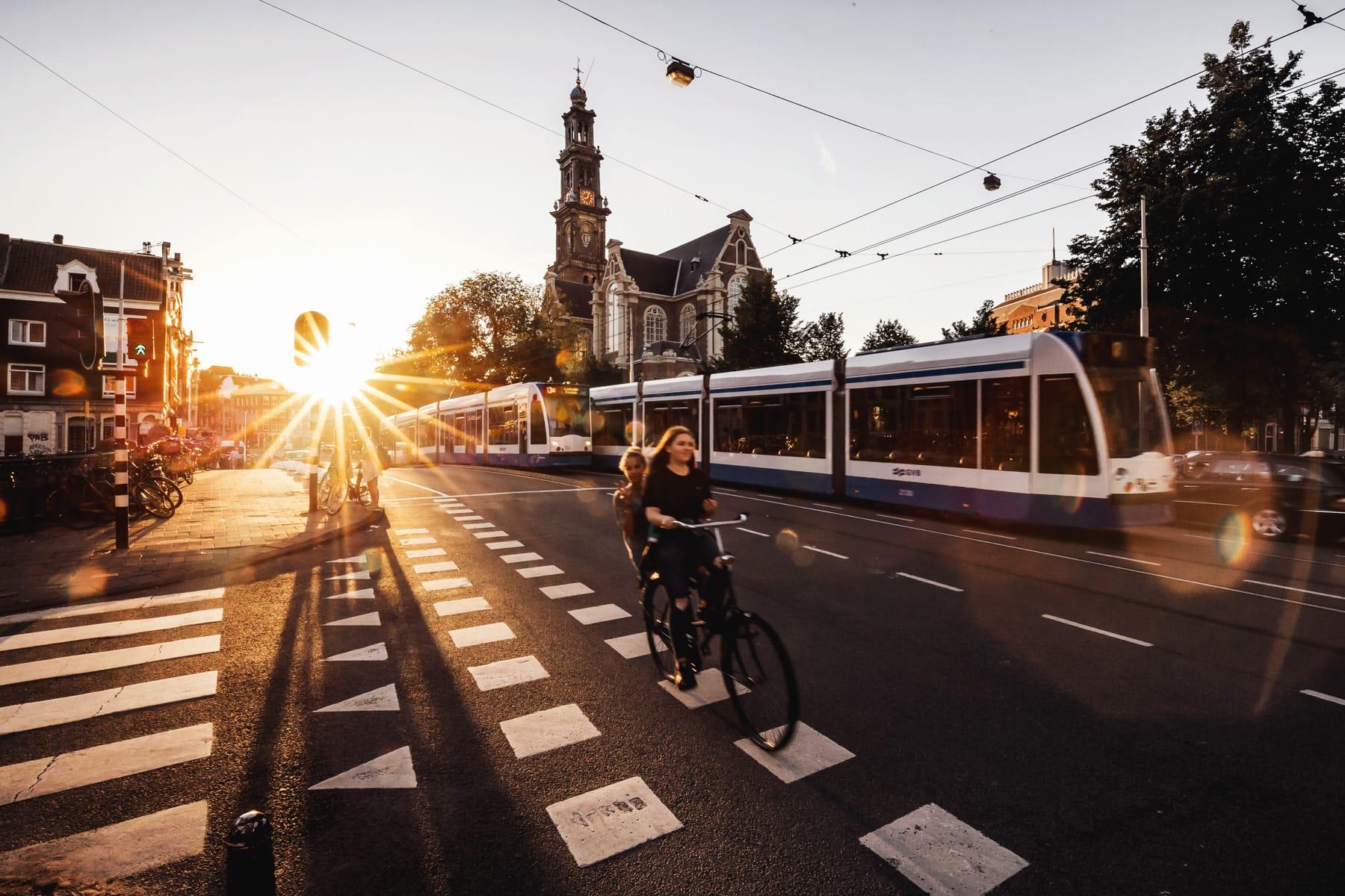 Amsterdam Westerkerk im Sommer