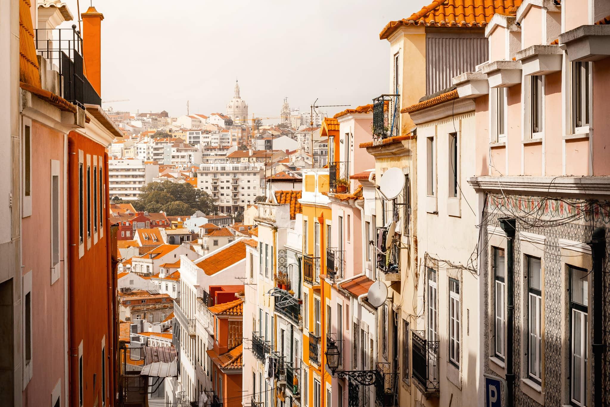 Häuser von Lissabon, Portugal, Europa