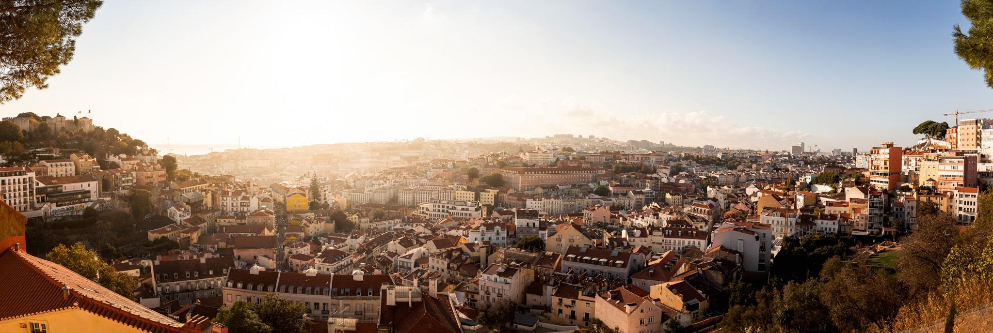 Panorama von Lissabon, Portugal, Europa